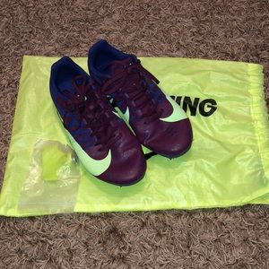 Nike track spikes with bag and tool